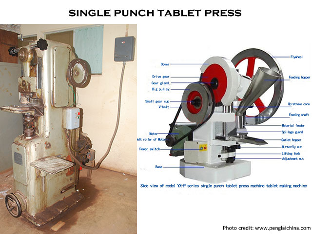 single punch tablet machine